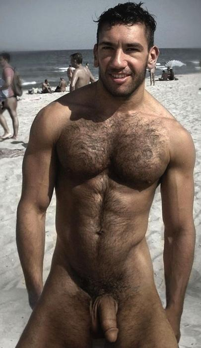 Male hairy nude