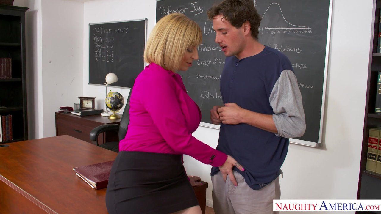 busty horny milf teacher